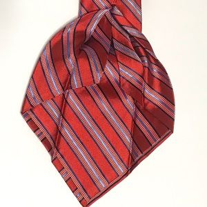Cremieux Limited 7 Fold Red White Blue Stripe Tie
